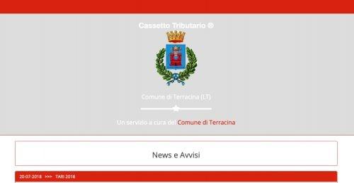 Il Comune di Terracina si dota del Cassetto Tributario.